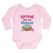 Loved By An Ocicat Long Sleeve Infant Bodysuit