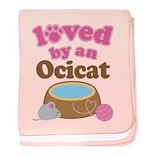 Loved By Ocicat Cat baby blanket
