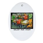 Salad Bar Exam Ornament (oval)