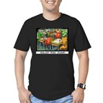 Salad Bar Exam Men's Fitted T-Shirt (dark)