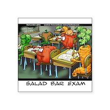 """Salad Bar Exam Square Sticker 3"""" x 3"""""""