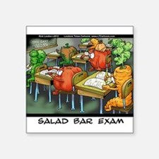 "Salad Bar Exam Square Sticker 3"" x 3"""