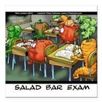 Salad Bar Exam Square Car Magnet 3