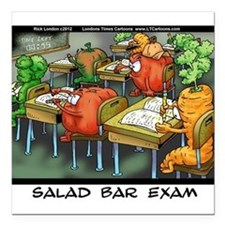 "Salad Bar Exam Square Car Magnet 3"" x 3"""