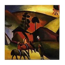 August Macke Native Aericans on horses Tile Coaste