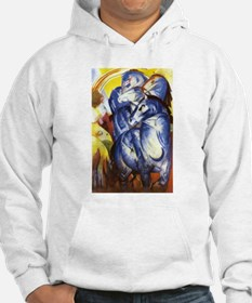 Franz Marc The Tower of Blue Horses Hoodie