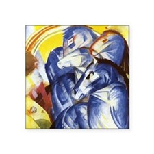 Franz Marc The Tower of Blue Horses Square Sticker