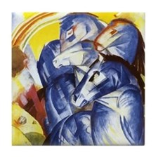 Franz Marc The Tower of Blue Horses Tile Coaster