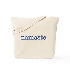 Namaste, Blue Tote Bag