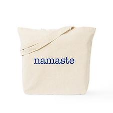 Namaste, Navy Tote Bag