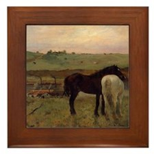 Edgar Degas Horses In A Meadow Framed Tile
