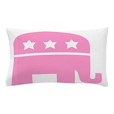 Republican Elephant Pink Pillow Case