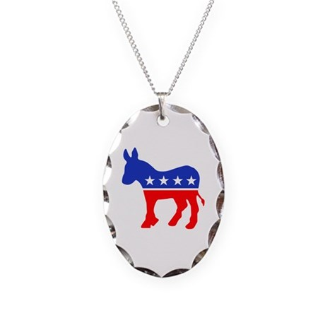 Democrat Necklace Oval Charm