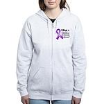 Special Pancreatic Cancer Women's Zip Hoodie