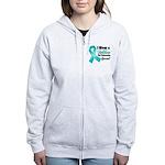 Special Ovarian Cancer Women's Zip Hoodie