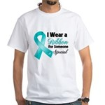 Special Ovarian Cancer White T-Shirt