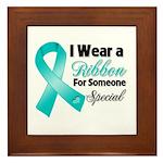 Special Ovarian Cancer Framed Tile