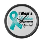Special Ovarian Cancer Large Wall Clock
