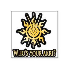 "Akri Square Sticker 3"" x 3"""