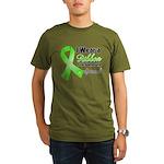Ribbon Special Lymphoma Organic Men's T-Shirt (dar