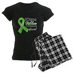 Ribbon Special Lymphoma Women's Dark Pajamas
