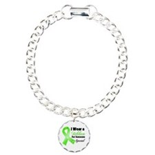 Ribbon Special Lymphoma Charm Bracelet, One Charm