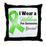 Ribbon Special Lymphoma Throw Pillow