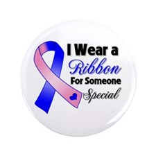"""Special Male Breast Cancer 3.5"""" Button (100 pack)"""