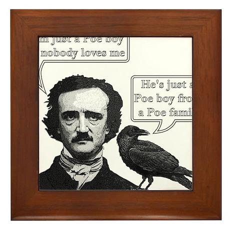 I'm Just A Poe Boy - Bohemian Rhapsody Framed Tile