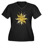 Acheron Symbol (TM) Women's Plus Size V-Neck Dark