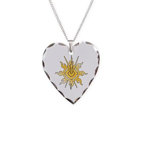 Acheron Symbol (TM) Necklace Heart Charm