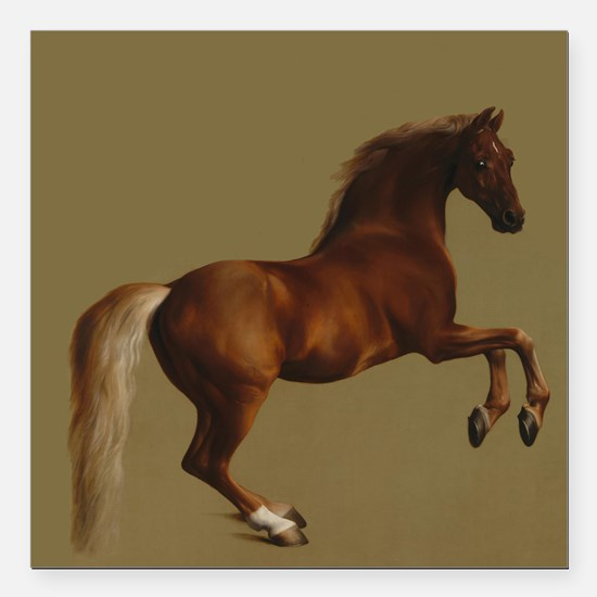 "George Stubbs Whistlejacket Square Car Magnet 3"" x"