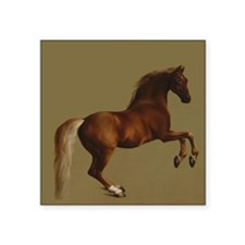 "George Stubbs Whistlejacket Square Sticker 3"" x 3"""