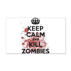 Keep Calm and Kill Zombies Wall Sticker