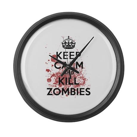 Keep Calm and Kill Zombies Large Wall Clock