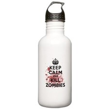 Keep Calm and Kill Zombies Sports Water Bottle
