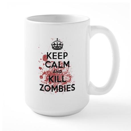 Keep Calm and Kill Zombies Large Mug
