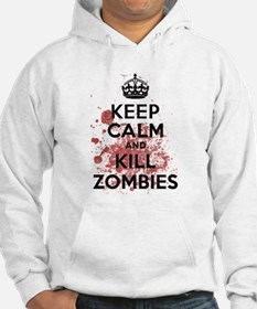 Keep Calm and Kill Zombies Hoodie Sweatshirt