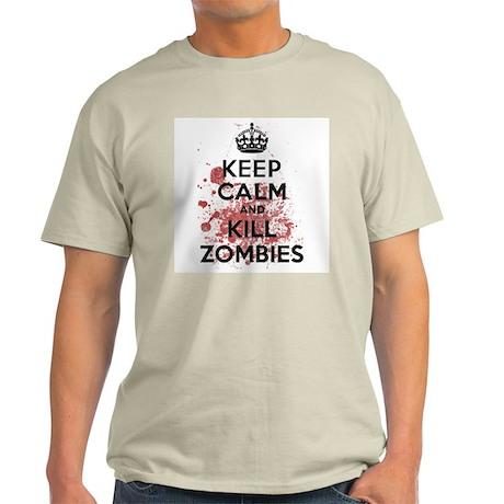 Keep Calm and Kill Zombies Light T-Shirt