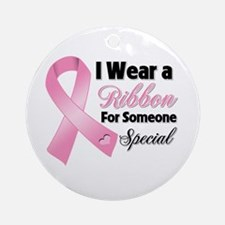 Special Breast Cancer Ornament (Round)