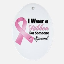Special Breast Cancer Ornament (Oval)