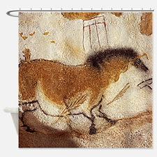 Lascaux Horse Painting Shower Curtain
