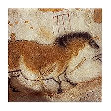 Lascaux Horse Painting Tile Coaster