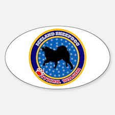 Iceland Sheepdog Oval Decal