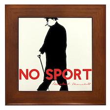 Winston Churchill, No Sport Framed Tile