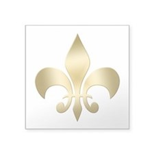 "New Orleans Fleur Square Sticker 3"" x 3"""