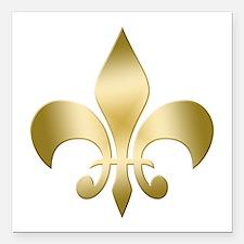 """New Orleans Fleur Square Car Magnet 3"""" x 3"""""""