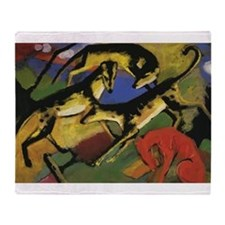 Franz Marc Playing Dogs Throw Blanket