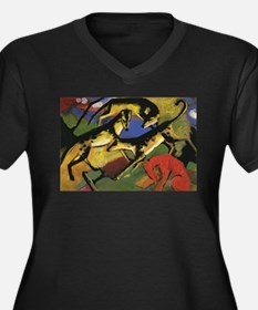 Franz Marc Playing Dogs Women's Plus Size V-Neck D
