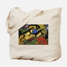 Franz Marc Playing Dogs Tote Bag